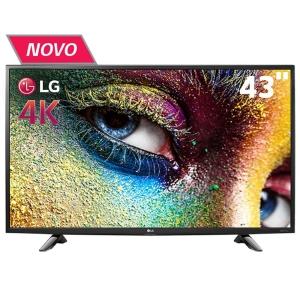 "Smart TV LED 43"" Ultra HD 4K LG 43UH6100 com Sistema WebOS, Wi-Fi, Painel IPS, HDR Pro, Upscaler, Entradas HDMI e Entrada USB"