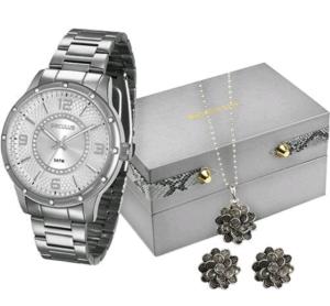 Kit Relógio Feminino Seculus Analógico