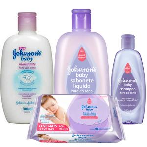 Kit Johnson's Baby Hora do Sono com 4 produtos - R$27