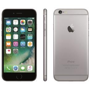"iPhone 6 Apple com 16GB, Tela 4,7"", iOS 8, Touch ID, Câmera iSight 8MP, Wi-Fi, 3G/4G, GPS, MP3, Bluetooth e NFC - Cinza Espacial.  Preço: R$ 2.599,00"
