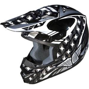 Capacete Kinetic Flash Prata Preto e Branco - Fly Racing  R$ 356,99