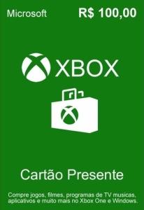 Cartão Presente Xbox Live R$100 - R$ 85,40