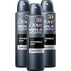 Kit 3 Desodorante Antitranspirante Aerosol Dove Men+care Invisible Dry 89g por R$ 27