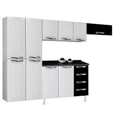 Cozinha Completa Ipanema Top 10 portas/4 gavetas de Aço Branco/Preto - Colormaq