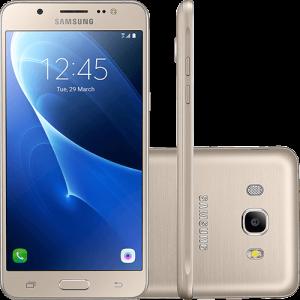 """Smartphone Samsung Galaxy J5 Metal Dual Chip Android 6.0 Tela 5.2"""" 16GB 4G Câmera 13MP - Dourado (1x no cartão)"""