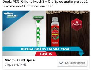 Amostra Grátis - Gillette Mach3 Sensitive + Old Spice.