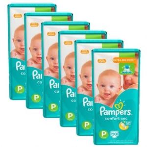 6 Pacotes de Fralda Pampers Confort Sec P, M, G, XG, XXG - R$206 + frete grátis