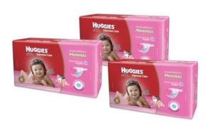 3 Fraldas Huggies Supreme Care Meninas Tam M - 240 Unidades - R$165
