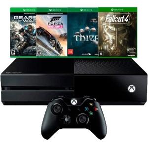 Xbox One 500GB + 4 Jogos + Controle Sem Fio