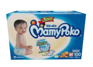 Fraldas com 100 unidades Super Seca Jumbo M MamyPoko - R$60