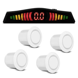 Sensor Estacionamento 4 Pontos Branco Display Led Colorido Por R$ 38,90