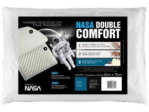 Travesseiro Espuma Viscoelástica - Fibrasca NASA Double Comfort  - R$ 24,90