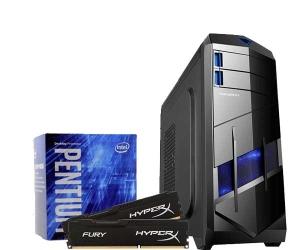 COMPUTADOR PICHAU GAMER BLOOD+, G4400, R7 360 2GB, 4GB, 500GB, 430W - R$1.600