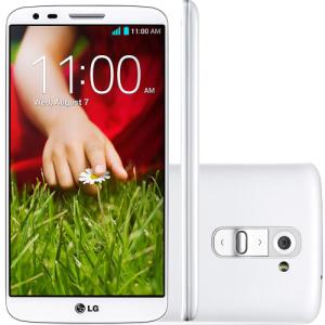 "Smartphone LG G2, Tela 5.2"" 16GB 4G Wi-Fi Câmera 13MP - Branco - R$680"