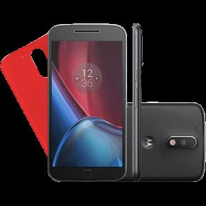 Smartphone Motorola Moto G 4 Plus Tela 5.5'' 32GB Câmera 16MP - Preto - R$1169