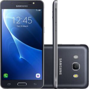 "Smartphone Samsung Galaxy J7 Metal Dual Chip 5.5"" 16GB 4G 13MP - Preto - R$775"