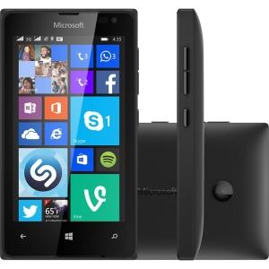 "Smartphone Microsoft Lumia 435 Dual Chip Desbloqueado Windows Phone 8.1 Tela 4"" 8GB 3G Wi-Fi Câmera 2MP - Preto - R$229"