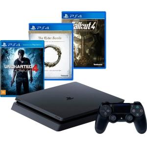 Sony PS4 Slim 500GB + 3 Jogos + Controle por R$ 1665