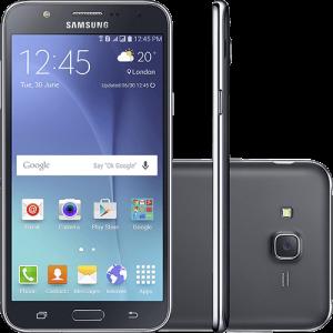 "Smartphone Samsung Galaxy J7 Duos Dual Chip Android 5.1 Tela 5.5"" 16GB 4G Câmera 13MP - Preto - R$791,99"
