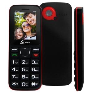 """Celular Desbloqueado Lenoxx CX 905 Preto/Vermelho com Tela 1.8"""" por R$ 81"""