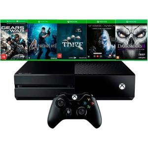 Console Xbox One 500GB + 5 Jogos + Controle Sem Fio por R$ 1350