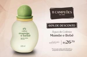Água de Colônia Sem Álcool Mamãe e Bebê - 100ml