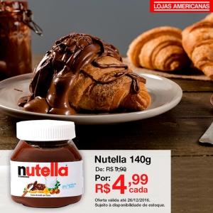 [Loja Fisica] Nutella 140g por R$ 4,99