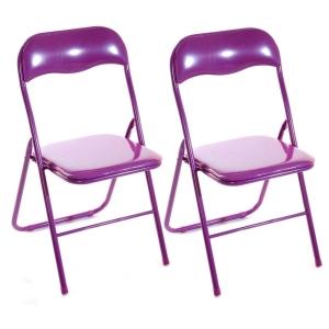 Kit com 4 Cadeiras Finlandek Color Dobrável por R$ 120