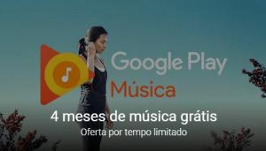 [Google] Play Music - Grátis por 4 meses