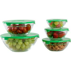 Conjunto de Potes de Vidro 5 Peças - Orb  - Verde. R$16,99