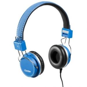 Headphone Bomber Quake cabo flat HB02 Blue R$18