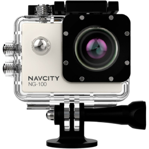Câmera Esportiva Navcity NG-100 Prata 12MP Full HD + Case à Prova d'água 30m + Selfie Stick