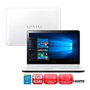Notebook Vaio Fit 15F VJF153B0211W - R$ 1.999,00