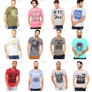 Camisetas com 30% OFF TOP MARCAS