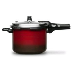 Panela de Pressão 4,5 Litros Fechamento Externo Pressure Vermelha – Brinox por R$ 190