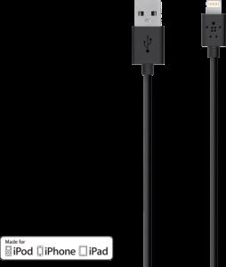 Cabo Lightning Homologado Para USB Belkin Preto por R$79