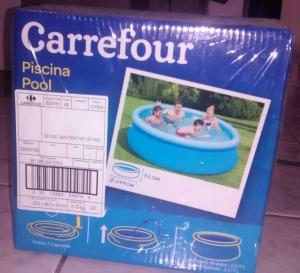 Piscina Inflável Carrefour 2.300L - R$79,90