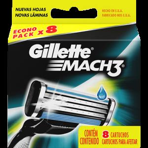 Carga para Aparelho de Barbear Gillette Mach3 - 8 Unidades por R$ 32