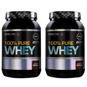 Leve 2 100% Pure Whey Chocolate 900 g - Probiotica por R$ 180
