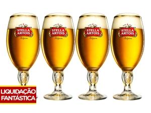 Jogo de Taças para Cerveja Vidro 4 Peças - Ambev Stella Artois por R$ 40