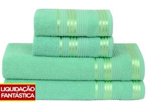 Jogo de Toalha 4 Peças Toalhas Atlântica Delicata - 100% Algodão por R$ 26