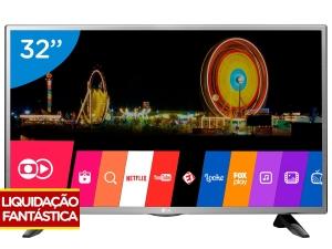 "Smart TV LED 32"" LG 32LH570B Conversor Digital - Wi-Fi 2 HDMI 1 USB por R$1099"