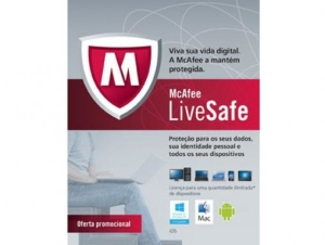 Antivirus Live Safe McAfee - R$ 19,90