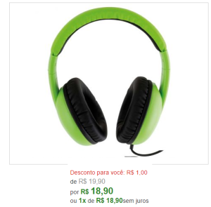 Headphone Philco -  Verde PH01VD - R$19