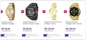 Promoção de relógios no Sou barato, confiram!