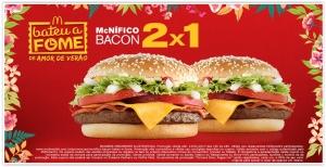 Promoção 2x1: Compre 1 Mcnífico Bacon e ganhe outro