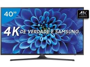 "Smart TV LED 40"" Samsung 4K/Ultra HD 40KU6000 por R$1999"