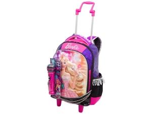 Mochila Barbie Rock'n Royals Alças e Rodinhas 20L - Sestini por R$ 90
