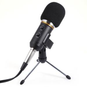 MK - F200FL 3.5mm Audio Wired Condenser Microphone  -  BLACK por 66