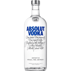Vodka Absolut Original 1 Litro - R$58,45